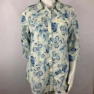 3For$20 St.John's Bay Button Down Blue size:XL